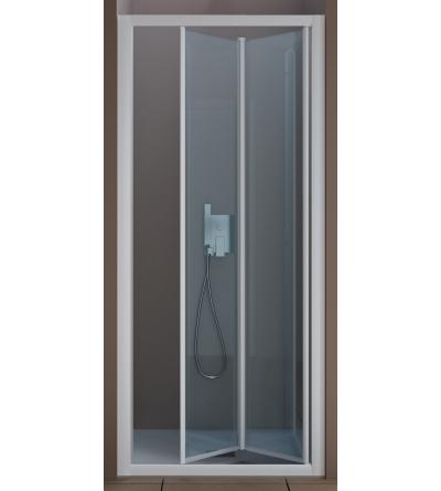 Porta doccia apertura 2 ante ripiegabili a soffietto verso l'interno e verso l'esterno Samo America Quattro B6461