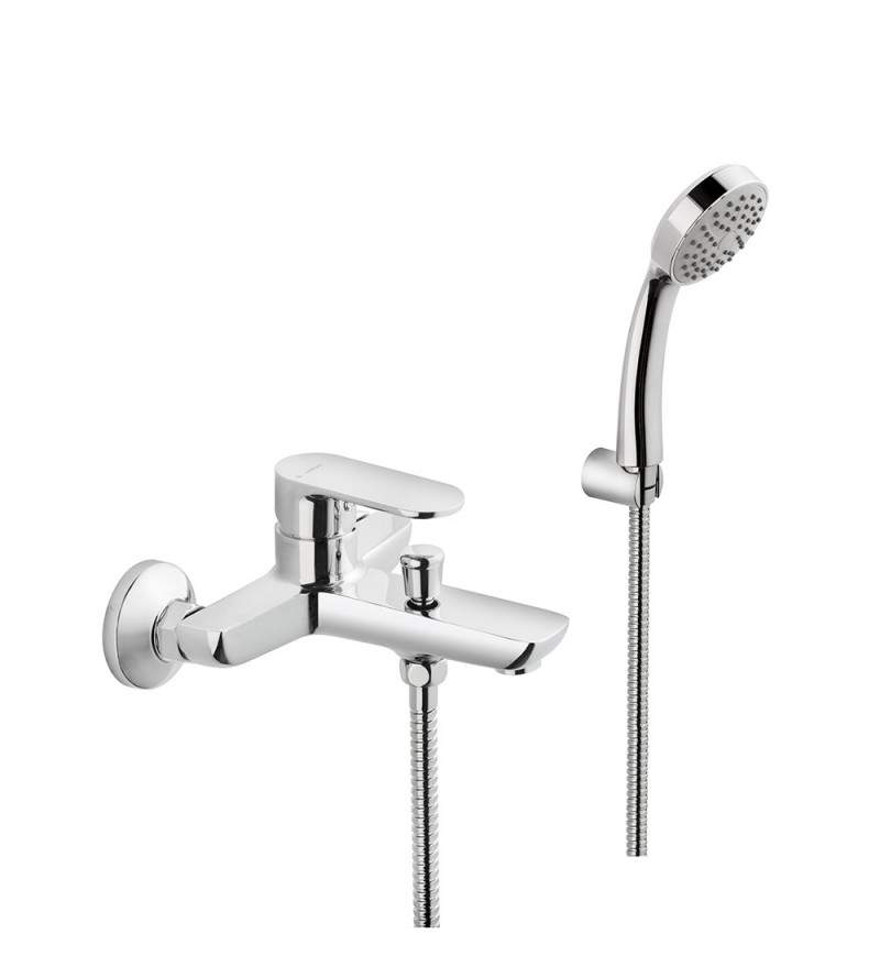 Exposed bath mixer with...