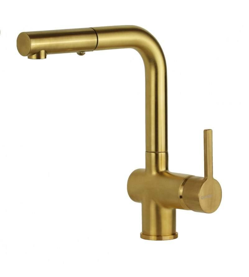 Miscelatore per lavello cucina in colore oro spazzolato Gattoni 4070/PCSG