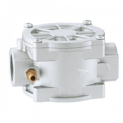 Gas filter with threaded...