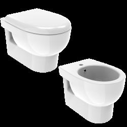 Glossy white wall hung WC...