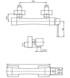 Miscelatore incasso doccia Paffoni STICK SK015
