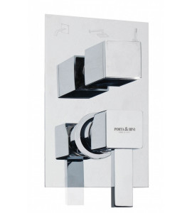 Batteria miscelatore bordo vasca Paffoni LEVEL LES/LEC/LEA040