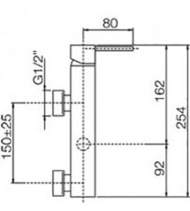 Batteria lavabo 3 fori Paffoni LEVEL LEP052