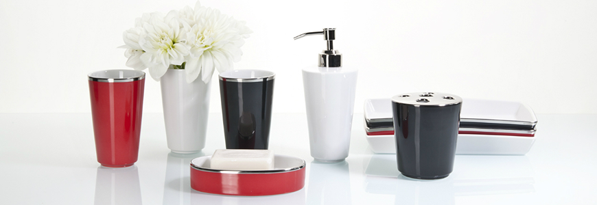 Soap dishes and toothbrush holders