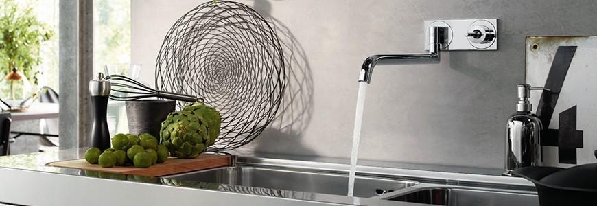 Robinets pour la cuisine à muraux