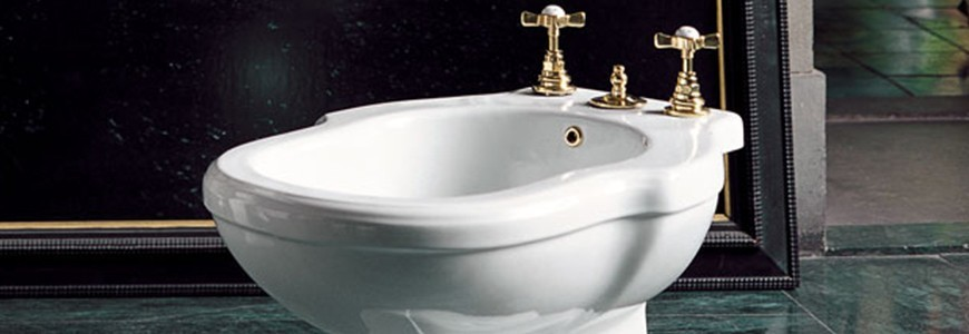 Taps and battery bidet 3 hole sale online shop rubinetteria shop - Rubinetteria bagno bianco oro ...
