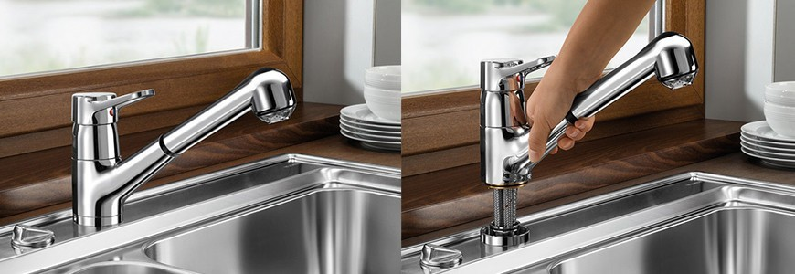 Spandrel kitchen taps