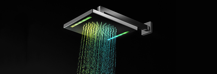 Chromotherapy shower heads
