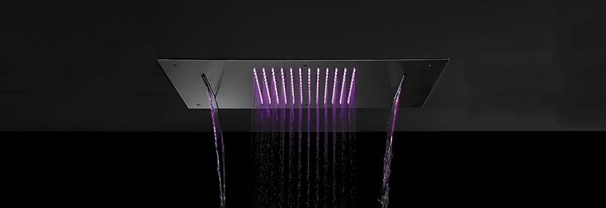 Rechteckige duschk pfe rubinetteria shop - Doccia con led colorati ...