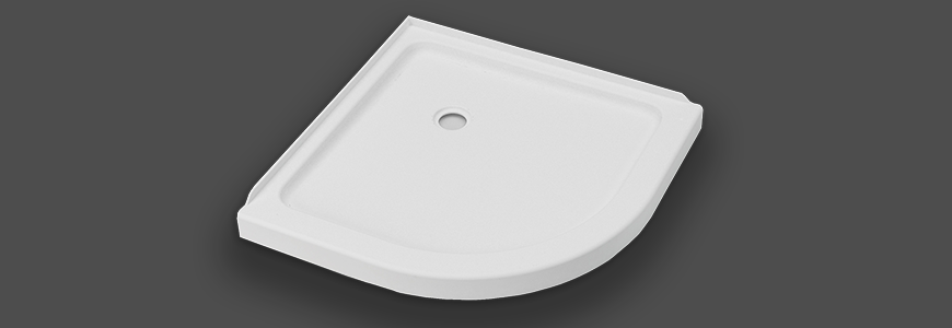 Semicircular shower trays