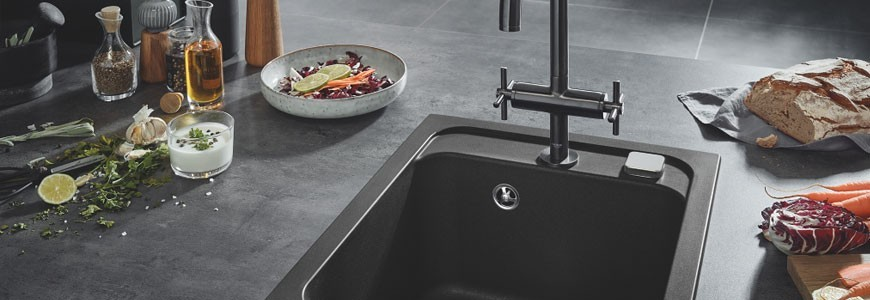 Sinks in composite material