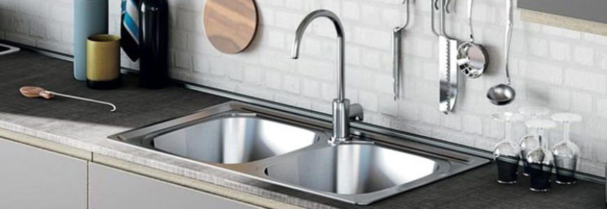 Four way kitchen taps